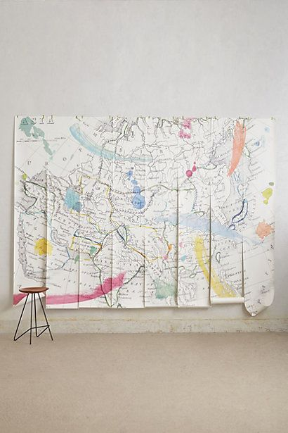 59 best tendance voyages images on pinterest paint the map and tradewinds wall mural bedroom wall map of paris gumiabroncs Images