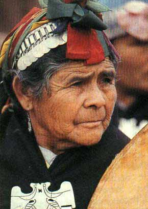 Chile | Portrait of a Mapuche woman | Photographer unknown