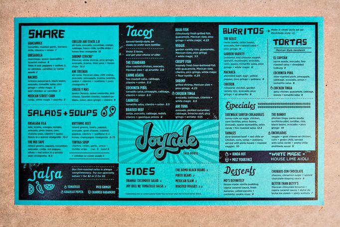 Joyride Taco House - Kitchen Sink Studios