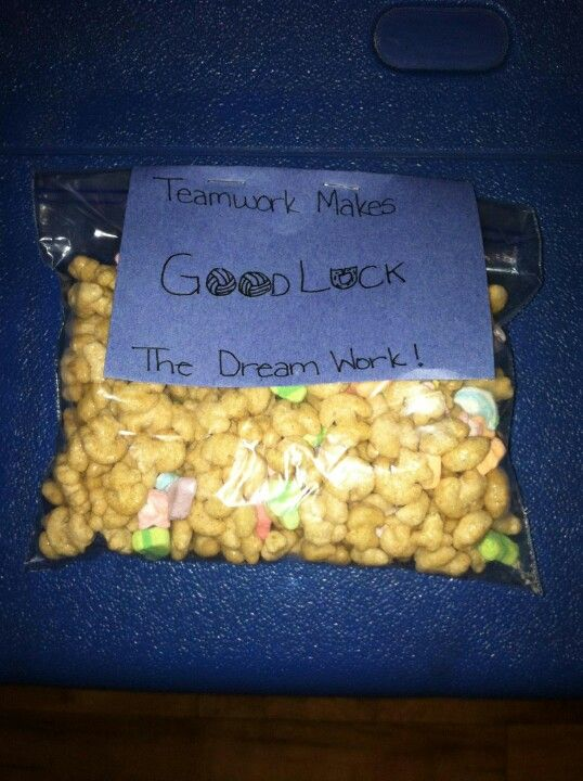 Volleyball Snacks Lucky Charms Quot Teamwork Makes Three Dream
