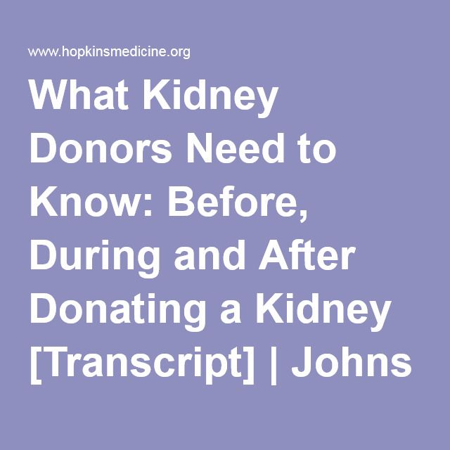 Living Kidney Donor