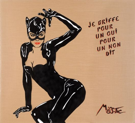 Catwoman de Mistic. Street art