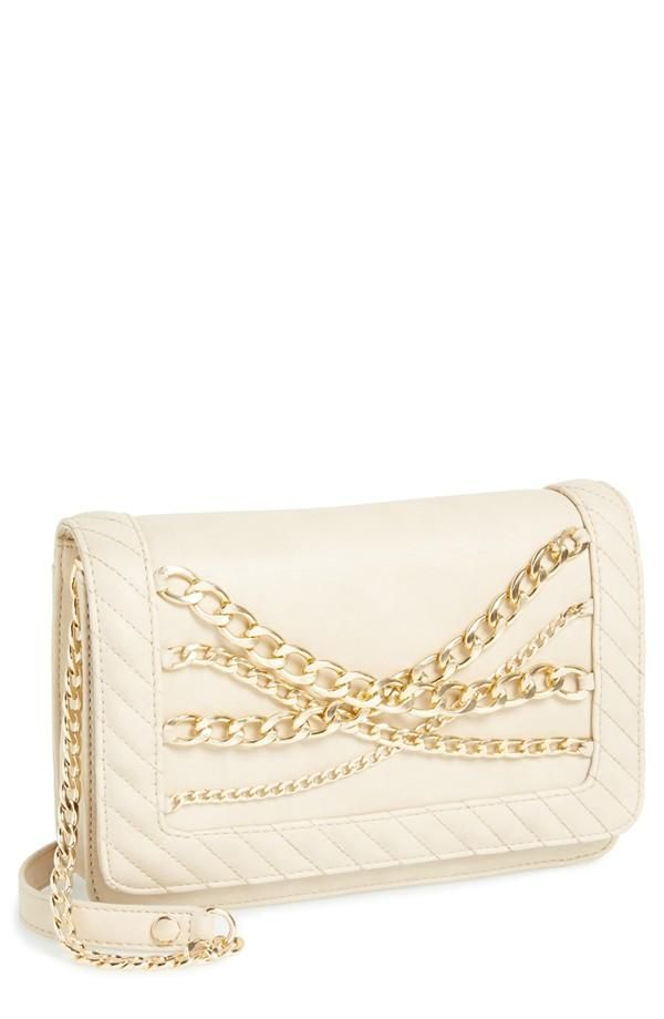 Love the chain detail on this Steve Madden clutch.