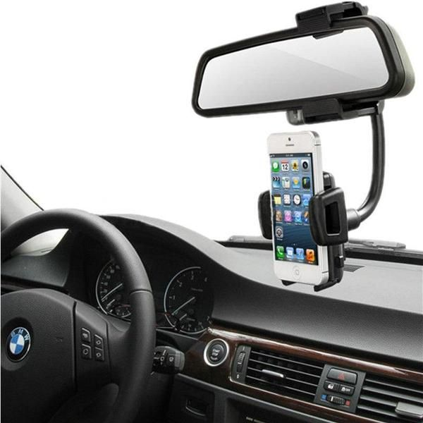 Universal Auto Car Rearview Mirror Mount Stand Holder Cradle Black Accessories