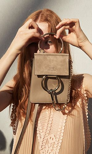 Looking through the nano Faye, one of our key bags on the Spring-Summer 2016 runway