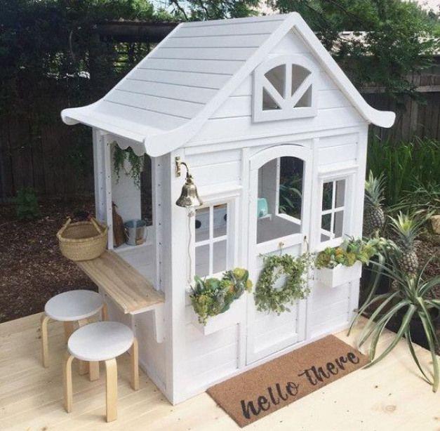 Ahhhh So Cute Kidswoodcrafts Play Houses Kids Cubby Houses Cubby Houses