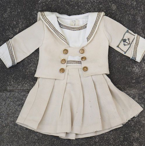 Antique Sailor Costume Dress for Jumeau French Bebe about 23-24"