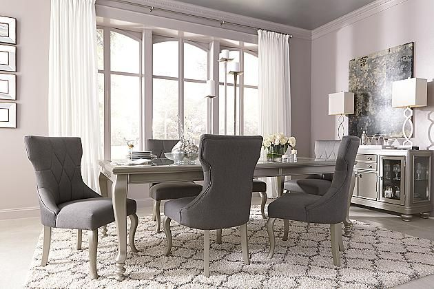 Dark Gray Coralayne Dining Room Chair #livingroomchairs  #diningroomchairs #chairdesign upholstered dining chairs, silver chair, upholstered chairs | See more at http://modernchairs.eu