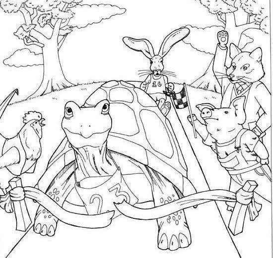 Secuencia de imagenes de la fabula la liebre y la tortuga para ...