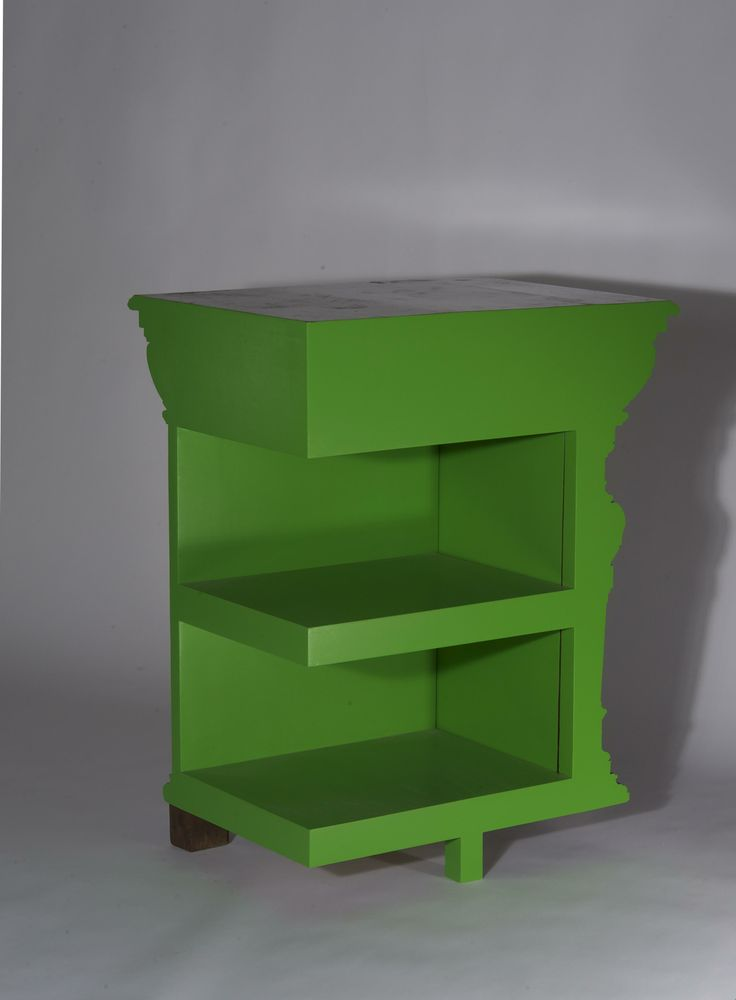Green cutted cabinet by Studio Rolf.fr