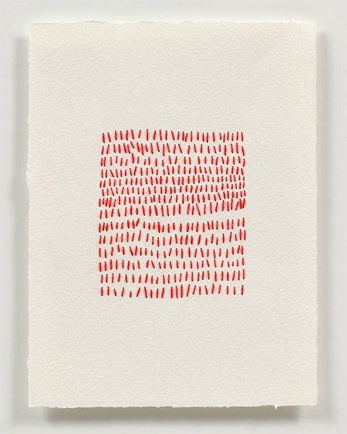 (via Emily Barletta stitching on paper | FRESH ARTiST Pin art U love)
