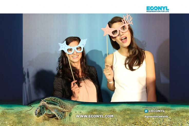 Vanessa Fuchs - ECONYL® at the GreenTec Awards 2015 in Berlin. The Green Carpet was made by Vorwerk using ECONYL® regenerated yarn coming from fishing nets, old carpets and other pre-consumer waste. At the event we had also a photo booth with funny props inspired by our regeneration of carpets, nets and by the marine world we are fighting to save. #ethical #fashion and #design#sustainability