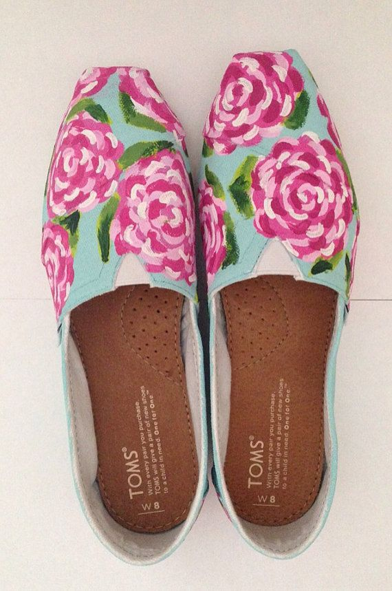 Women's Custom Hand Painted Lilly Pulitzer Toms