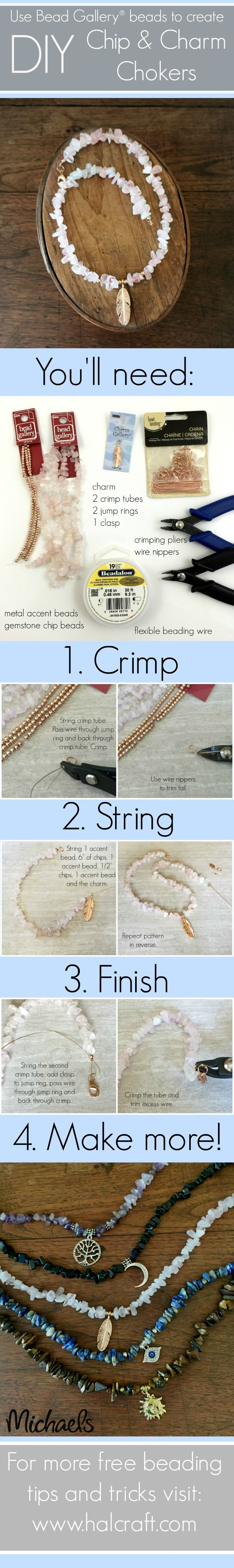 Make your own #gemstone chip and #charm #choker with DIY instructions and…