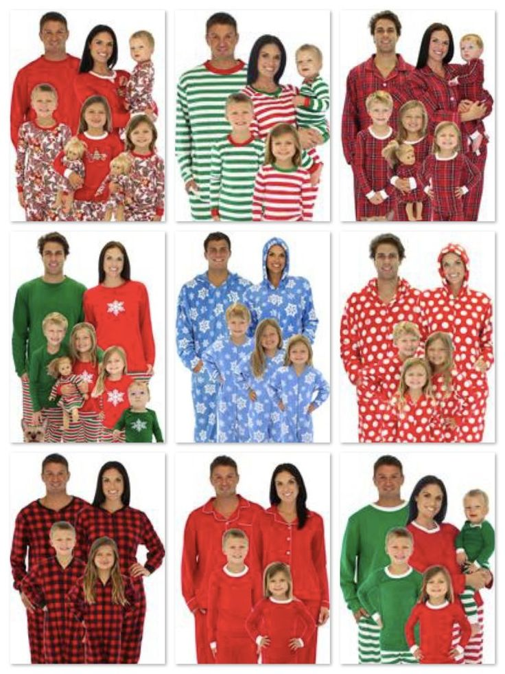 Christmas matching family pajamas mommy daddy me for Funny matching family christmas pajamas