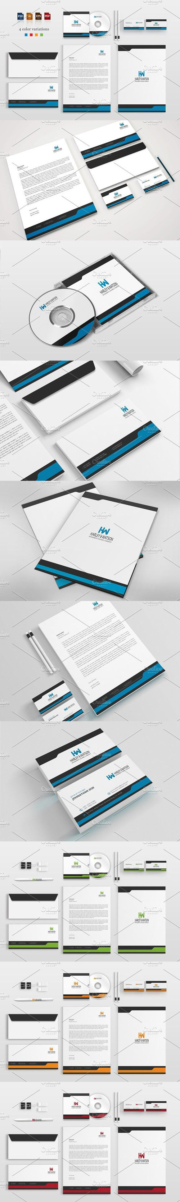 Corporate Stationery Pack. Stationery Templates