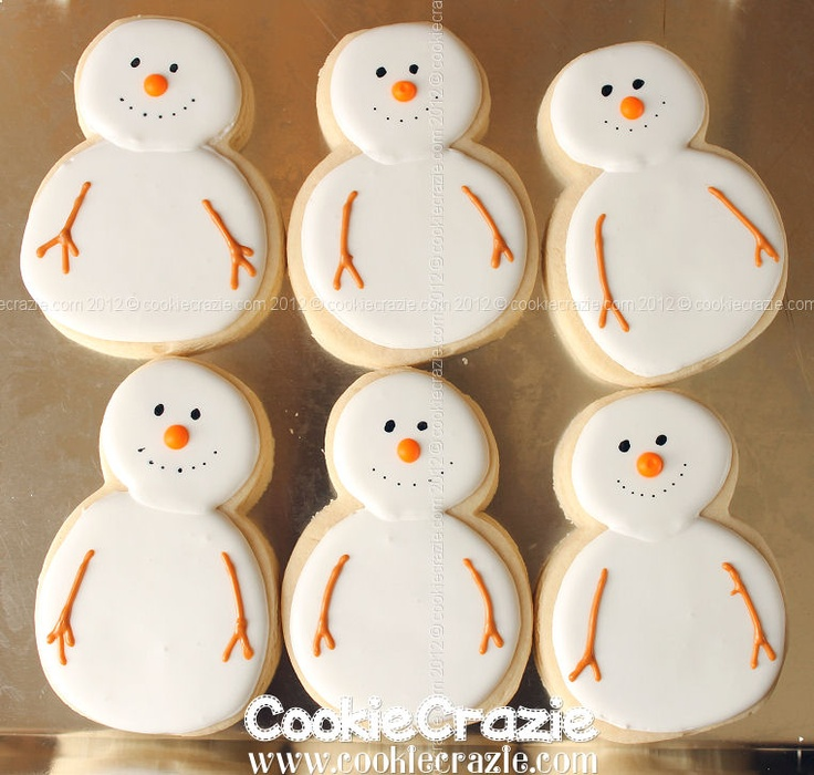 50 best Christmas - Biscuits: Snowmen images on Pinterest ...