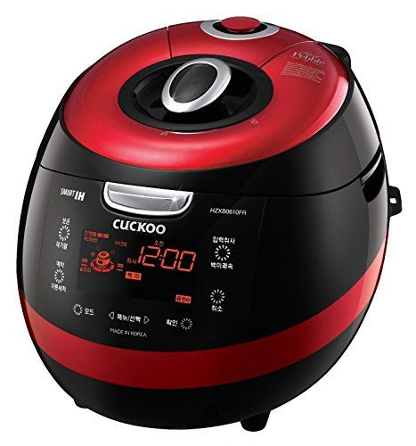 Cuckoo CRP-HZXB0610FR IH Pressure Rice Cooker 6 Cups 220V English Chinese Voice