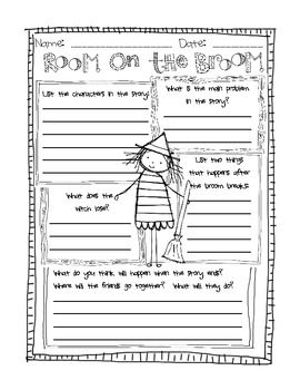 Room on the Broom story map FREEBIE!