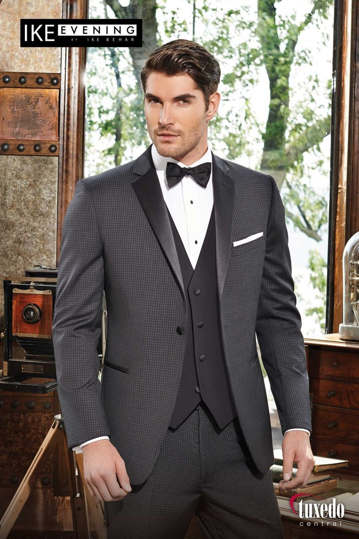 Asheville Tuxedo by Mitchell's - 'Ashton' - Ike Behar - Grey Check - Slim Fit