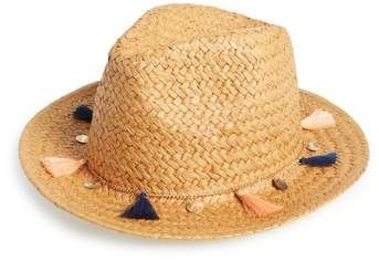 BP Tassel and Coins Straw Fedora
