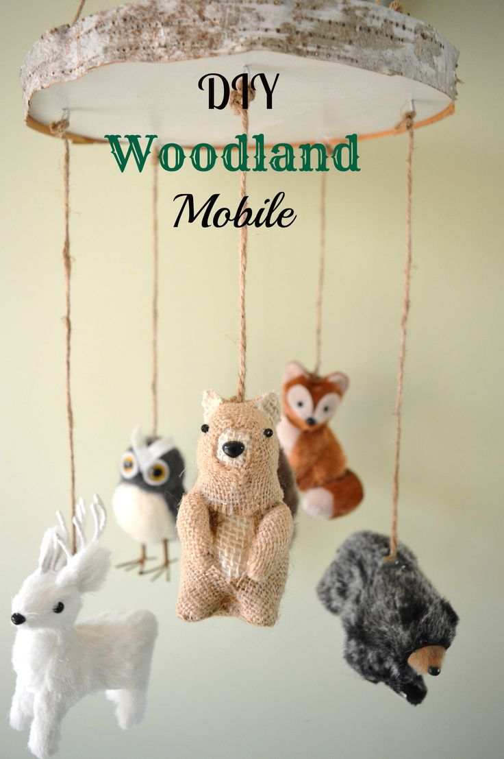 DIY Woodland Mobile