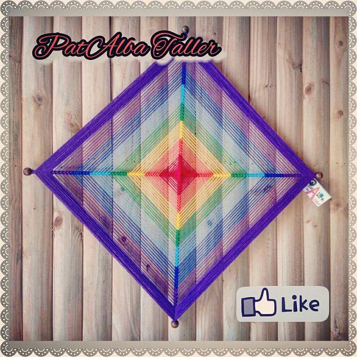 Terminado pedido de Ojo de Dios en colores de los chakras. #patalbataller #diseñoindependiente #diseñounico #diseñodeautor #artesana #emprendedora #mandalas #energías #armonía #tejidoterapeutico ##handmade