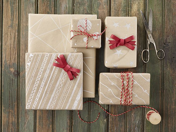 Brown Paper Gift Wrap. Add a personal touch to your presents with this DIY wrapping paper craft from Publix.