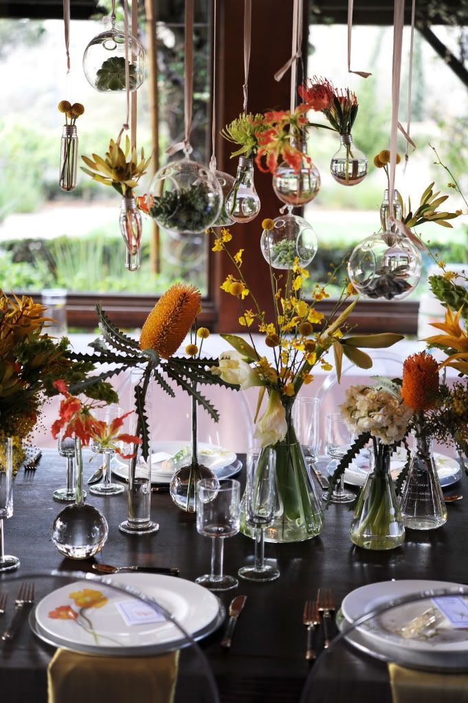 science wedding table top inspiration