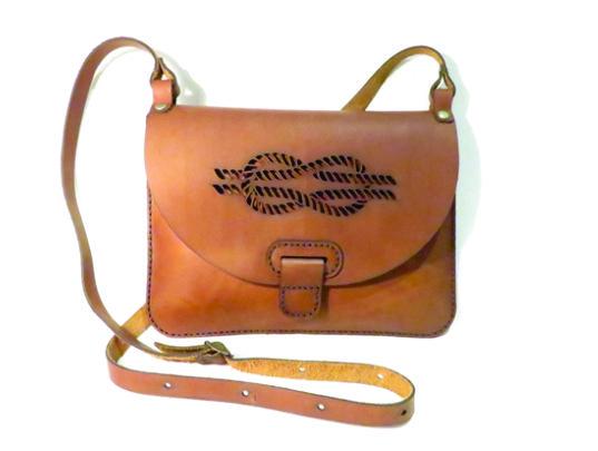 ROPE #1 25cm X 18cm CROSSBODY CLUTCH BAG Genuine leather, Laser cut, Hand stitched