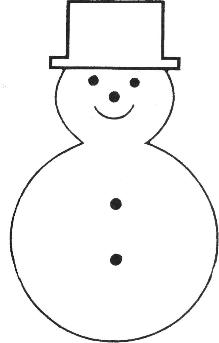 Free printable snowman template bonhommes de neige for Snowman paper chain template