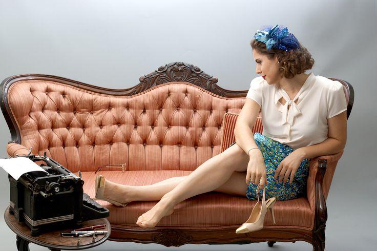 Elise - takin' a break at work 1940s style