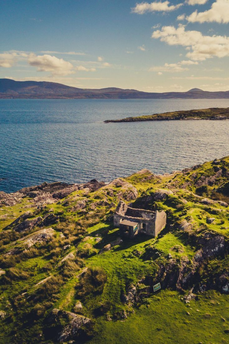 Old Cottage Ruins On The Ring Of Kerry Ireland A New Perspective Changes Everything That S Why I Love Using My Dji Mavic To Capture A Dif Ireland Landscape Travel Photography Travel