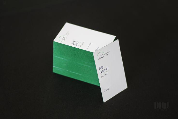 Colored edge business cards Farebné hrany v presne namiešanej PANTONE farbe