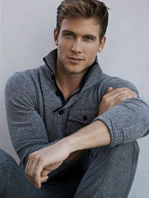 This is a great dressed down look. Also, all shades of Grey look great. Love the sweater and slacks.