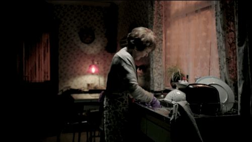 "The trailer opens with a shot of Mrs. Hudson. | The First Tantalizing Glimpse Of The New Season Of ""Sherlock"""