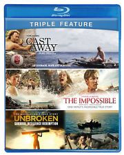 Cast Away - The Impossible - Unbroken  Blu-ray Survival Movies - Like New
