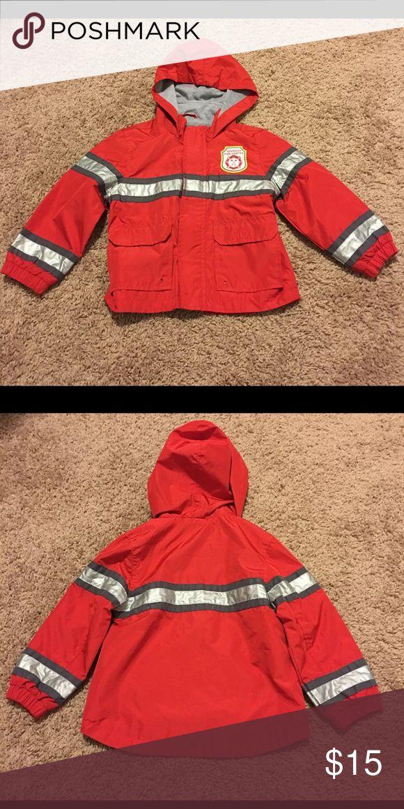 Firefighter Rain Jacket 4T. A cute rain jacket! Firefighter Rain Jacket 4T. A cute rain jacket! Brand new! Jackets & Coats Raincoats