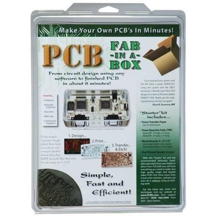 Simple, fast and cheap PCB fabrication using heat transfer *PCB Fab-in-a-Box Kit*