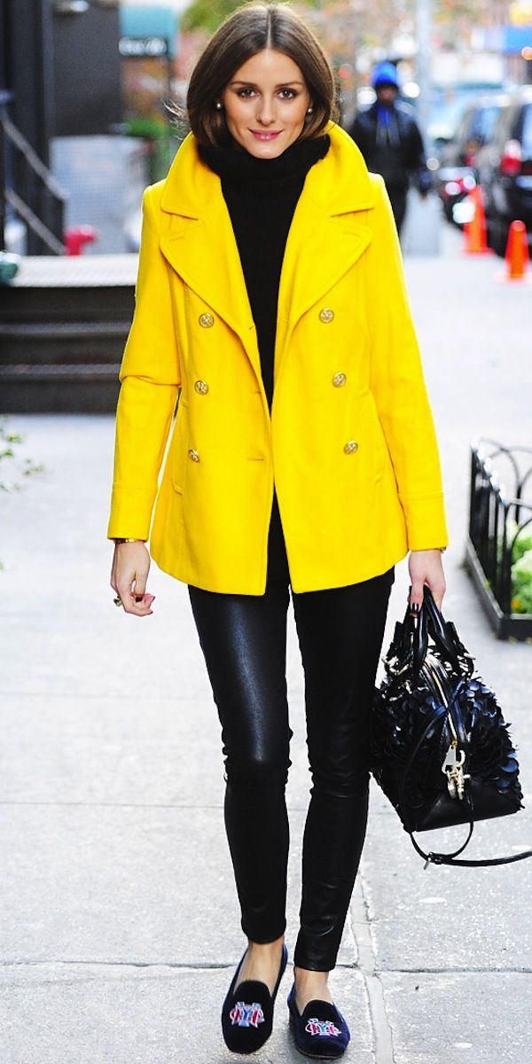 OLIVIA PALERMO | bright yellow.