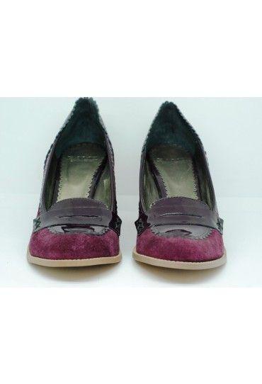 #Pantofi Gamp din piele naturala, cu toc de 9 cm.