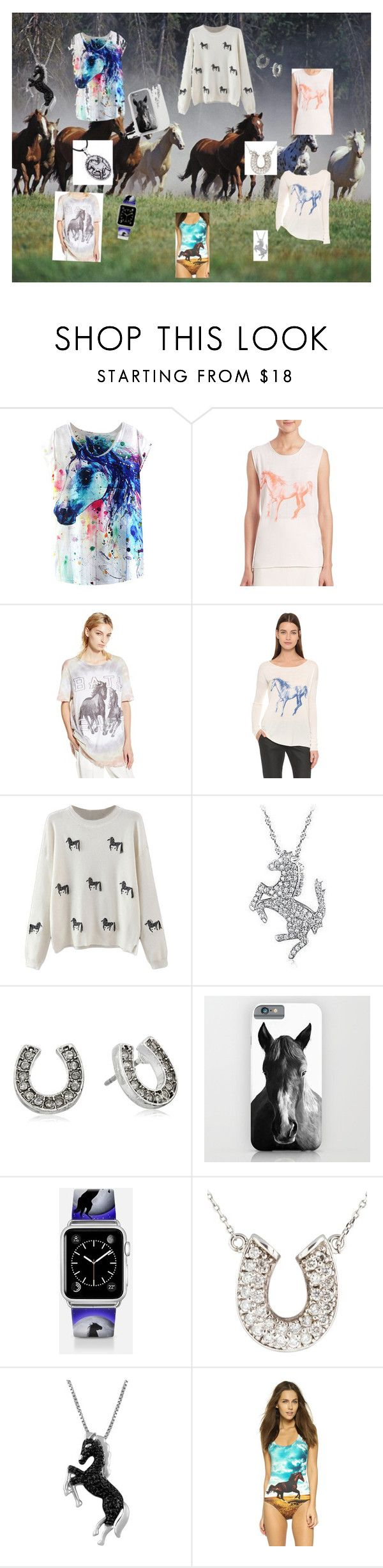 """""""WIP HORSES!!"""" by gracenickel on Polyvore featuring Wild Horses, Tess Giberson, Baja East, Belec, Betsey Johnson, Casetify, Jewel Exclusive, We Are Handsome, KINNO and horses"""