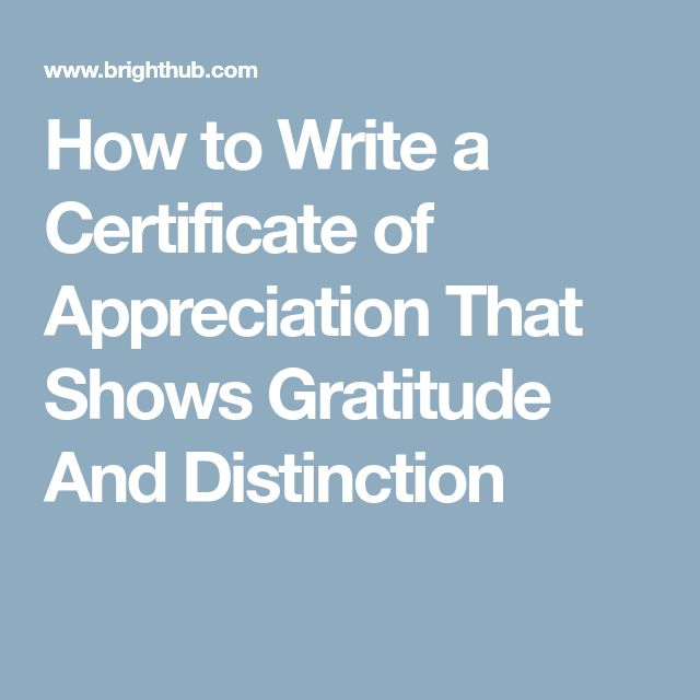 How to Write a Certificate of Appreciation That Shows Gratitude And Distinction