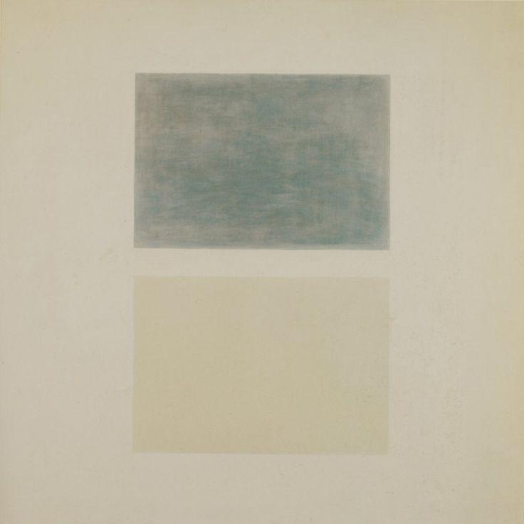 Agnes Martin - This Rainoil on canvas - ca. 1960