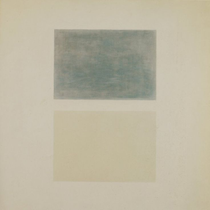 slcvisualresources:  Agnes Martin - This Rainoil on canvas - ca. 1960