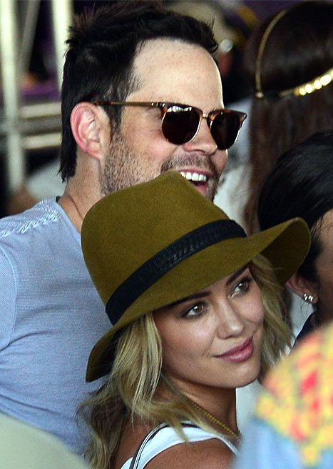 Hilary Duff and Mike Comrie spend time together at Coachella
