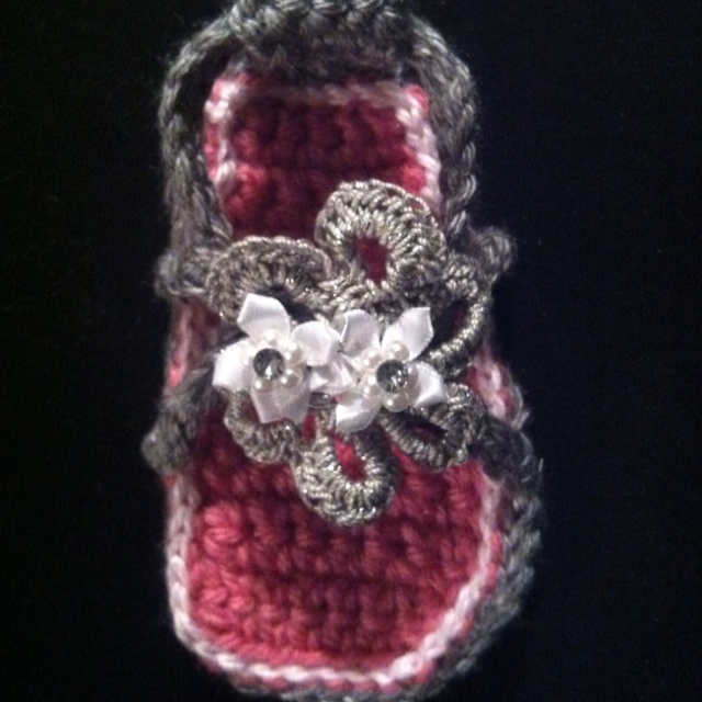 Toddler crochet shoe
