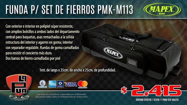 La Púa San Miguel: Funda para Set de fierros MAPEX PMK-M113, con rued...