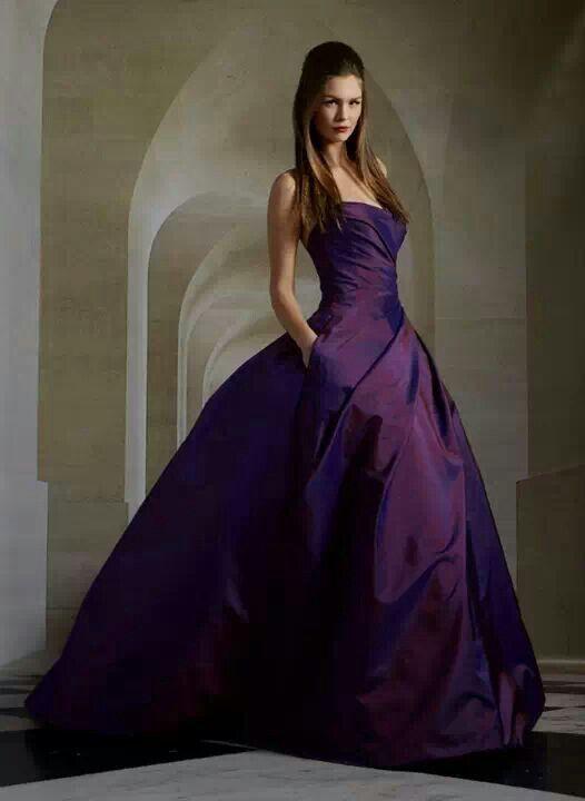 {Bridal} Romona Keveza purple wedding gown #bridal #wedding #weddinggown