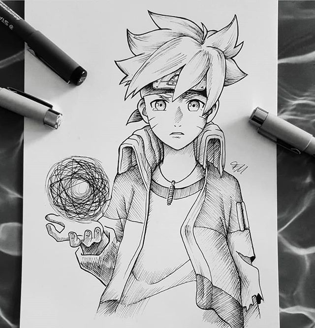Hey guys🤗 2 drawings of Boruto Uzumaki🍃 I hope you like it😘 * * #boruto…